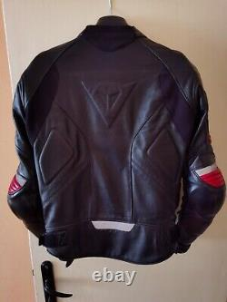 Dainese Leather Jacket Pelle Motorbike Racing 3 Size 46 with Back Protection