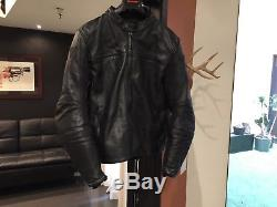 Dainese Leather Motorcycle Jacket Excellent Size Eu 54 Large Black Perforated