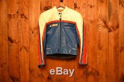 Dainese Limited Vintage Riders Cafe Racer Motorcycle Biker Leather Jacket 36-s