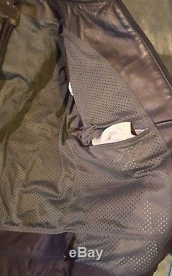 Dainese Racing / Stealth Perforated Leather Jacket Motorcycle Black EU 58