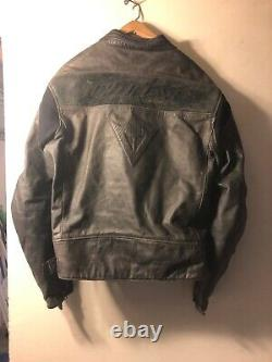 Dainese Vintage Size 58 Riders Controllo Racer Motorcycle Biker Leather Jacket