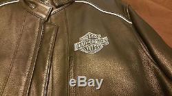 Dark Horse Legendary Custom Harley Davidson Leather Jacket Men's 2XL Black