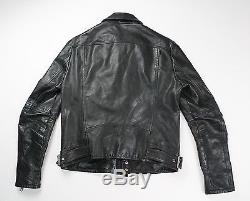 Diesel Black Gold Mens Black Leather Motorcycle Jacket Size 48 $1495 ITALY