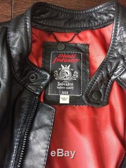Diesel Laleta Leather Jacket Size Large