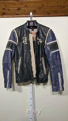 Diesel Vintage Multicolor Moto Racer Jacket Size Medium