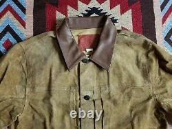 Double RL RRL Ralph Lauren Roughout Suede Leather Jacket