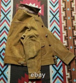 Double RL RRL Ralph Lauren Skinner Oiled Suede Leather Jacket