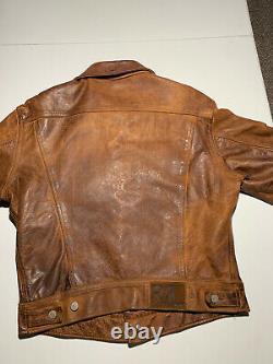 Double RL RRL Ralph Lauren Vintage Leather Jacket M