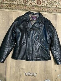 Eastman Horsehide Leather Jacket ELMC Windward Size 44 Black