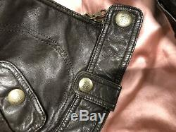 Ezra Fitch Cafe Soft Leather Motorcycle Jacket Small Abercrombie Fitch Rare Used