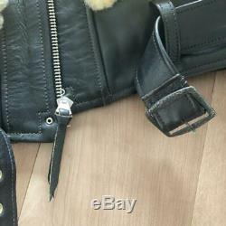 FREEWHEELERS Grizzly Jacket Coat Size-S 36 Horsehide Limite USED