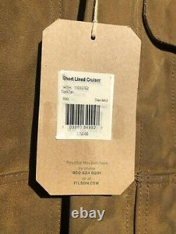 Filson Tin Cloth Short Lined Cruiser Jacket Size XXL