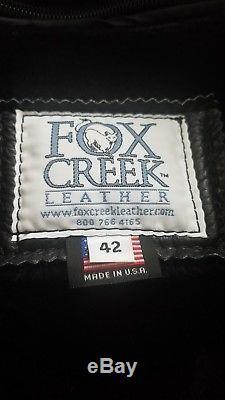 Fox Creek Full Grain Leather Motorcycle Jacket McQueen Version