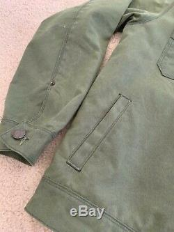 Freenote Cloth Waxed Riders Jacket Olive Size L Excellent Condition