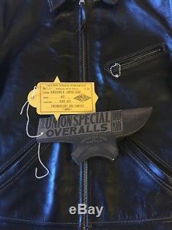 Freewheelers Union Special Caboose Jacket Black Shinki Horsehide Size 42