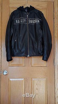 Genuine Harley Davidson Mens Leather Jacket XL Tall