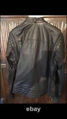 Genuine Harley Davidson Leather Motorcycle Jacket, Large, Hardly Used, Cruiser