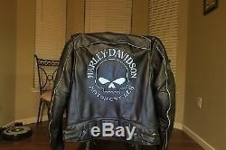 Genuine Harley Davidson Willie G Skull Reflective Men's Jacket