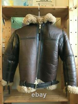 Genuine Irvin RAF Aviation Leather Sheepskin Flying Pilot Aviator Jacket