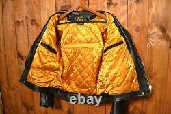 Gold Top England Aero Leathers Aviakit Cafe Racer Motorcycle Leather Jacket 42l