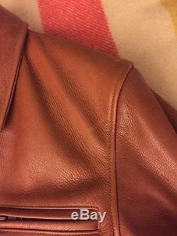 Golden Bear X Taylor Stitch Whiskey Leather Jacket Small