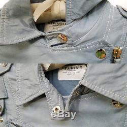 Gucci $3,750 buttery baby blue lambskin belted moto jacket38/XS