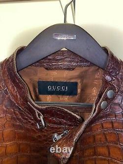 Gucci crocodile jacket, originally $40k, mandarin collar, runway piece, 2012