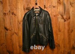 HARLEY DAVIDSON 1980's HD RARE USA VINTAGE MOTORCYCLE LEATHER JACKET SIZE XXL-50