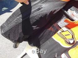 Harley Davidson Mens Speed Orange/black Racing Jacket Sz XL