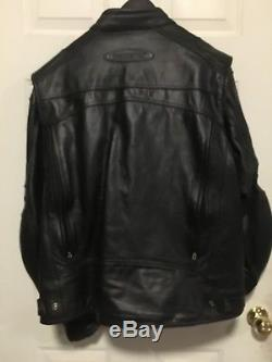 HARLEY DAVIDSON MEN'S FXRG WATERPROOF REFLECTIVE LEATHER JACKET Size XL