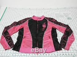 HARLEY DAVIDSON Riding Jacket Women's Size S PINK Motorcycle Gear Full Zip