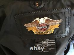 HARLEY DAVIDSON Women's Size SMALL Black #1 Leather Jacket in Great Condition
