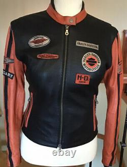 HARLEY DAVIDSON Women's Size XL Leather Racing Jacket in Great Condition