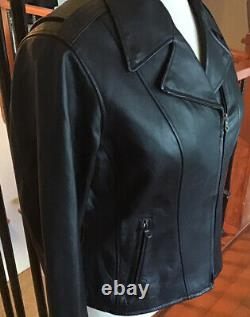 HARLEY DAVIDSON Women's XL Black Studded Leather Jacket in Great Condition