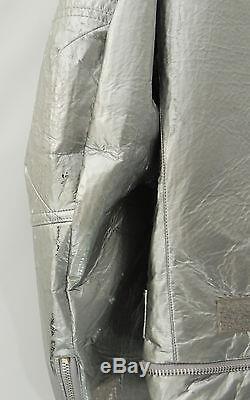 Helmut Lang 1999-2000 Space Biker Jacket Silver