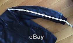 HELMUT LANG Mens Black Leather Slim Fit Motorcycle Bomber Jacket S Small $1390