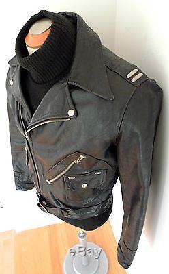 HORSEHIDE D Pocket RARE PONYWISE Toronto Vintage LEATHER Motorcycle JACKET