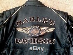 Harley Davidson 110Th Anniversary Leather Jacket Euc 's XL