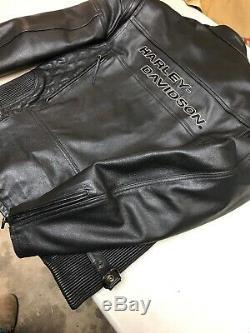 Harley-Davidson Competition Series Leather Jacket Mens Size Medium 98110-97VM