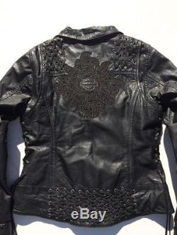 Harley-Davidson Dark Shadows Leather Jacket Women's 1W 97065-15VW XL