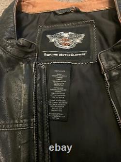 Harley-Davidson Genuine Motorclothes Black Leather Jacket Large Gently Used