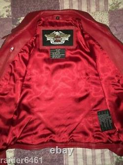 Harley Davidson ISIS Eagle Red Tribal Leather Jacket Womens Small 97018-06VW EC