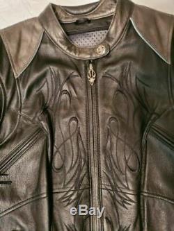 Harley Davidson Ladies Black Leather Riding Jacket, S/m
