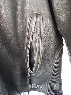 Harley Davidson Leather Jacket 2XL Worn Distressed #1 Racing P/N 98105-00VM