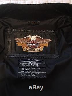 Harley Davidson Leather Jacket Number 1 Gray Black Men's Large