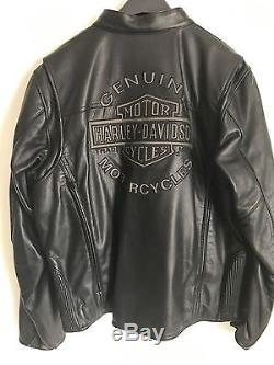 Harley Davidson Leather Jacket With Removable Hooded Vest. EXCELLENT CONDITION