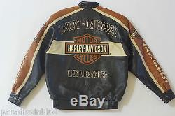 Harley Davidson Men Prestige Leather USA Made Jacket Bar & Shield 97000-05VM M