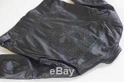 Harley Davidson Men Reflective WillieG Skull Black Leather Jacket 98099-07VM 2XL
