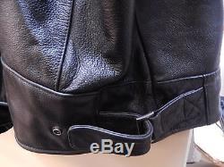 Harley Davidson Men Reflective Willie G Skull Black Leather Jacket 4XL