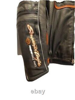 Harley Davidson Men Screamin Eagle Leather Jacket L Raceway Screaming 98226-06VM
